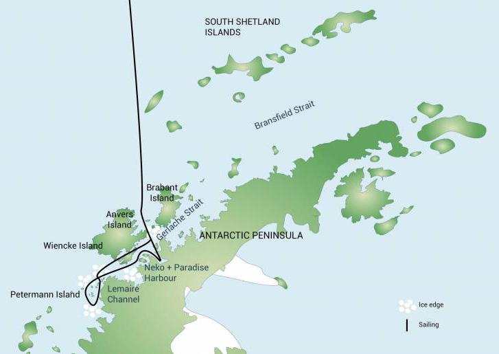 Plancius proposed sailing route