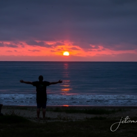 Rare sunset
